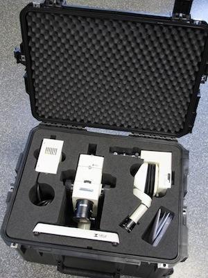 Microscopes une valise de transport sur mesure
