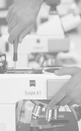 Microscopie et microscopes services entretien et maintenance
