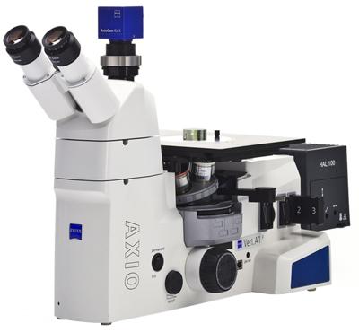 Microscope Axio Vert.A1 inversé pour les matériaux