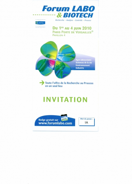 Forum Labo et Biotech - Invitation