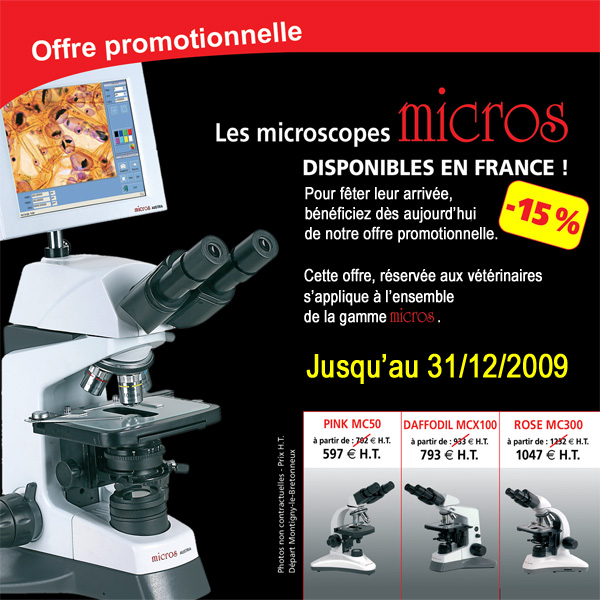 Microscope vétérinaire - Microscopes biologie