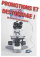 Microscope en promotion déstockage