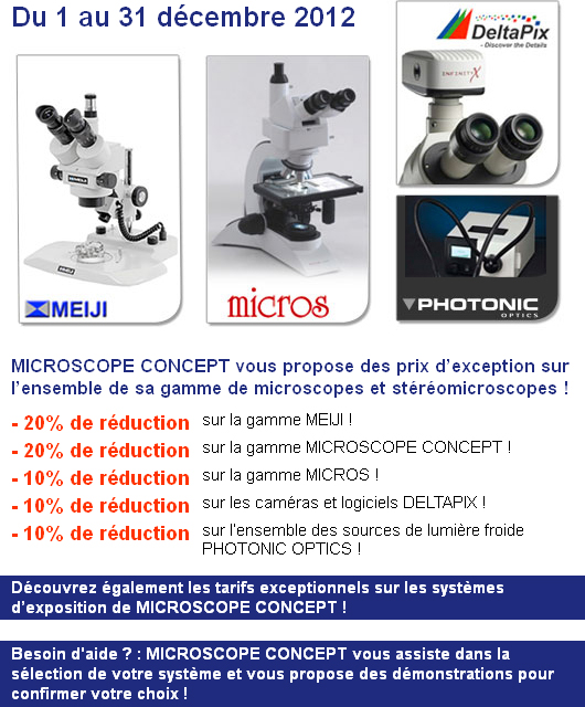 PROMOTIONS MICROSCOPES & MICROSCOPIE