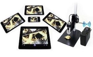 Microscopie numérique et sans fil : caméras WIFI