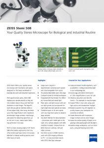 Stéréomicrocopes ZEISS Stemi 508