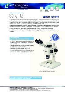Stéréomicroscopes MEIJI Série RZ