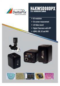 Caméras de microscopie DeltaPix 4K HDMI