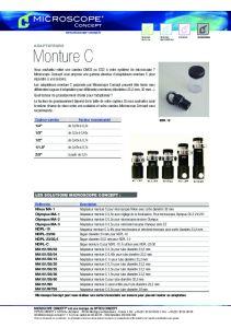 Adaptateurs Monture C