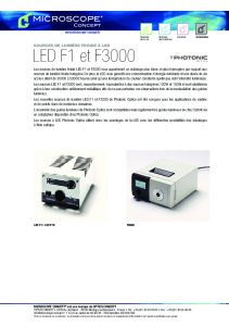 Sources froides à LED - PHOTONIC OPTICS