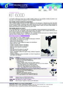 KIT 600D Microscope Concept